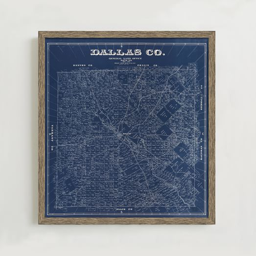 WE Print Collection, 1884 Map of Dallas County