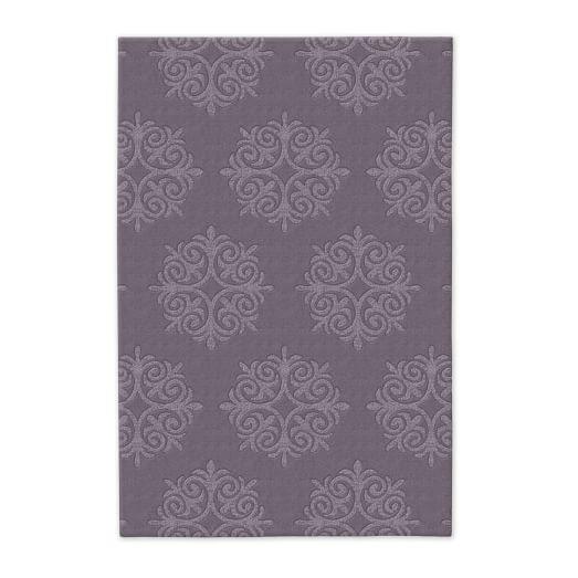 Emblem Wool Rug - Dark Iris