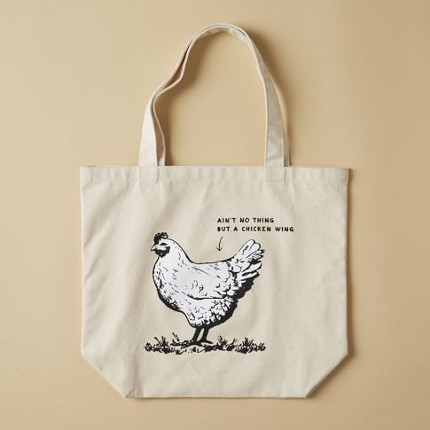 Market Tote Bag, Chicken Wing