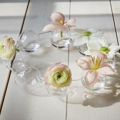 Glass Bubble Vase, Clear
