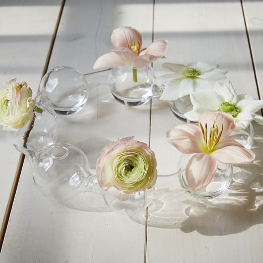 Glass Bubble Vase, Clear