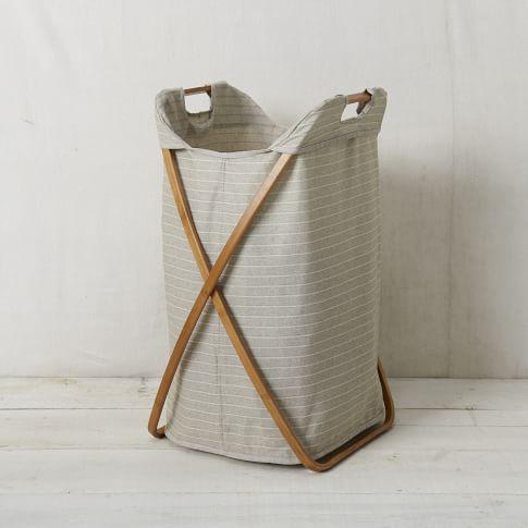 Bamboo Laundry Hamper, Single