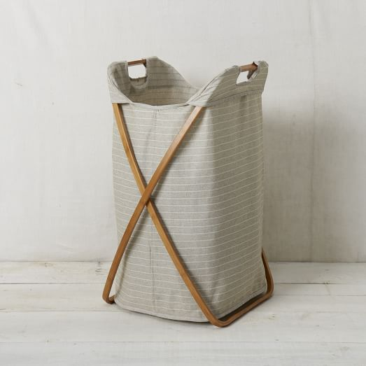 Bamboo Laundry Hamper, Single