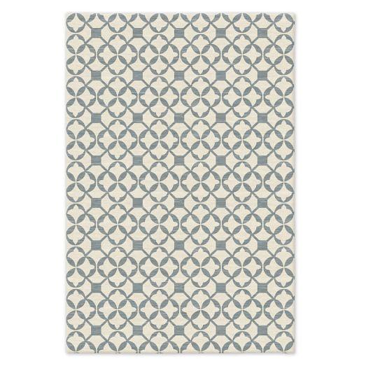 Tile Wool Kilim - Blue Sage
