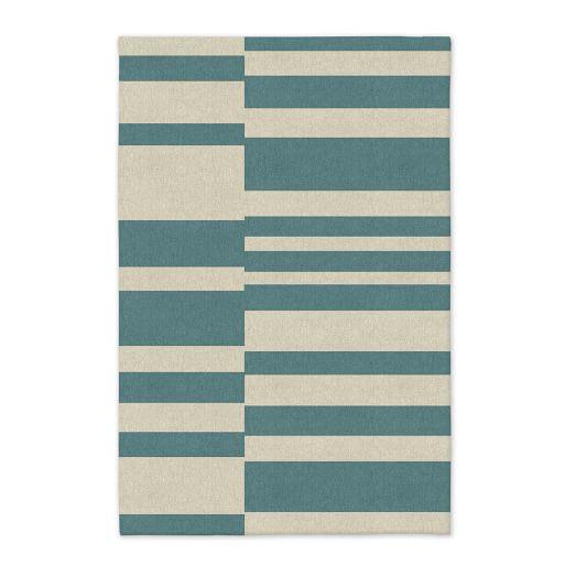 Offset Stripe Dhurrie - Lapis
