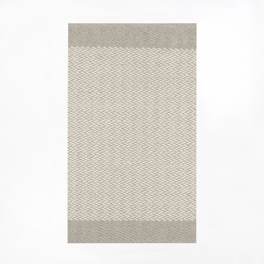 Oasis Flat Weave Rug 3'x5', Natural Gray