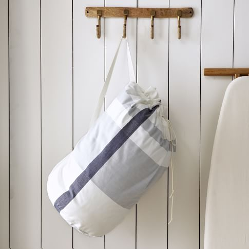 Laundry Bag, Surf Stripe, Stone White/Blue Fin