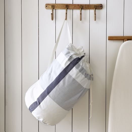 Laundry Bag, Surf Stripe, Stone White/Blue Fin
