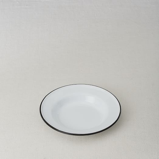 Enamelware Salad Plates, Set of 4