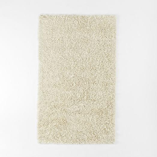 Darby Wool Shag Rug, 3'X5', Ivory
