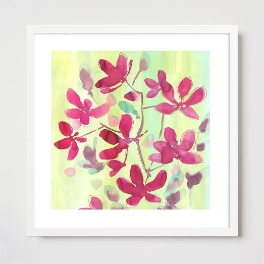Framed Print, Coral Seaweed