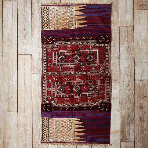 Assorted Turkish Rugs - Multi Pattern with Stripe, 7.5x4