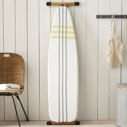 Ironing Board Cover, High Tide, Stone White/Citron