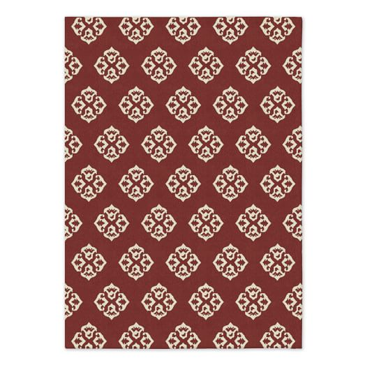 Andalusia Wool Dhurrie - Rust