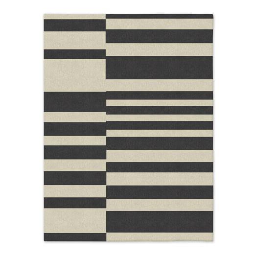 Offset Stripe Dhurrie - Iron