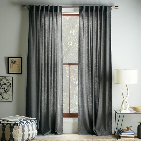 Studded Wool Curtain, 48