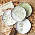 Jason Polan Botanical Plates, Set of 4