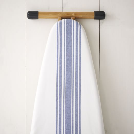 Cotton Ironing Board Cover, Café Stripe