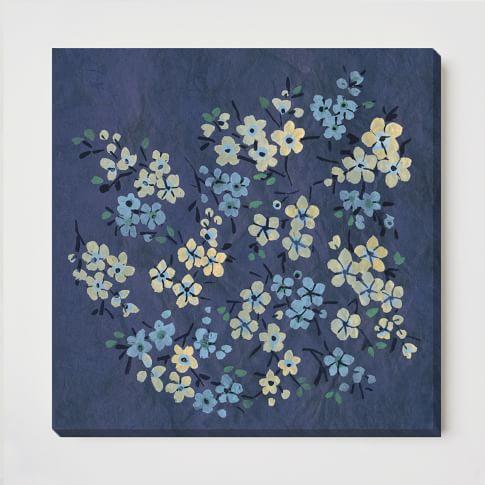 Canvas Print, Blue Blooms