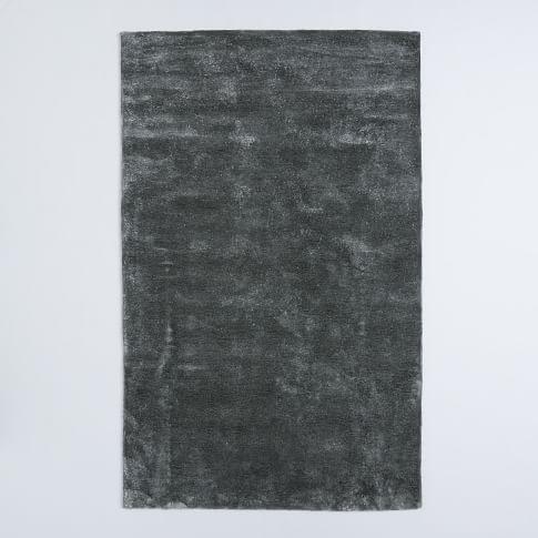 Watercolor Solid Rug, 5'x8', Slate