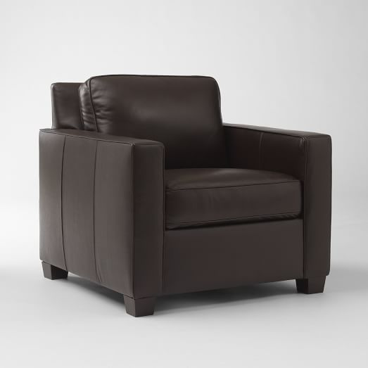 Henry Leather Arm Chair, Coffee