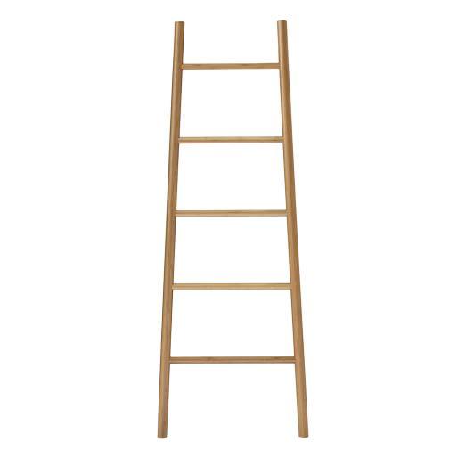 Tall Wood Bamboo Ladder, Natural