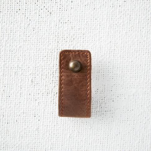 Leather Knob, Brown