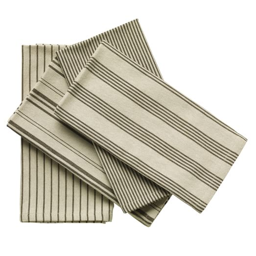 Yarn Dye Stripe Napkins, Set of 4, Iron