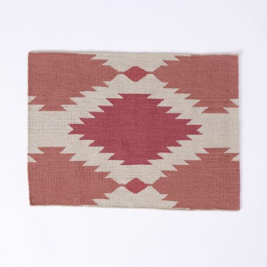 Phoenix Wool Dhurrie Rug, 2'X3', Earth Red