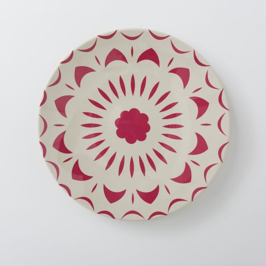 Bright Shapes Melamine, Salad Plate, Pink