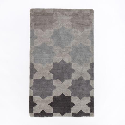 Illusion Rug, 3'x5', Slate