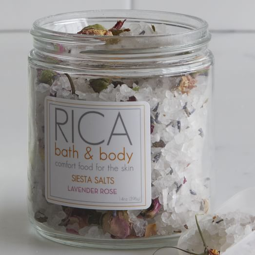 Rica Bath + Body, Siesta Salts, Lavender Rose