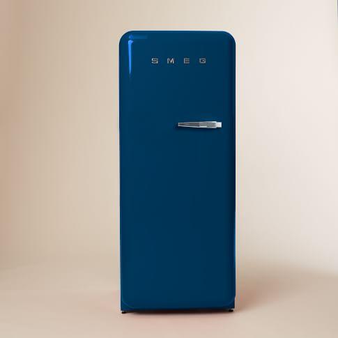 SMEG, Refrigerator, Blue, Left Hinge