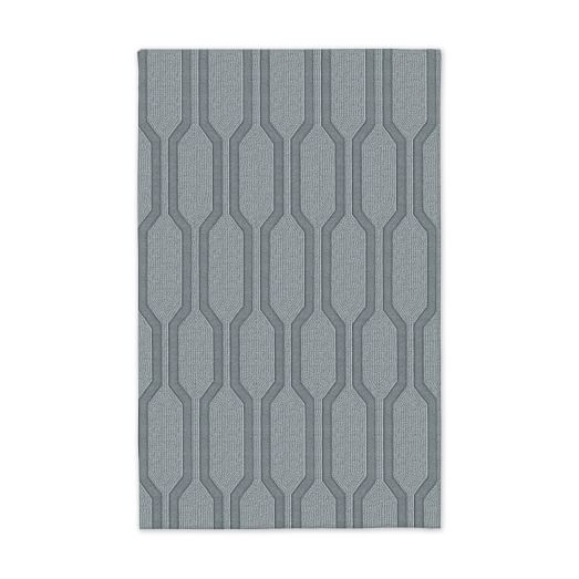 Honeycomb Textured Rug - Blue Sage