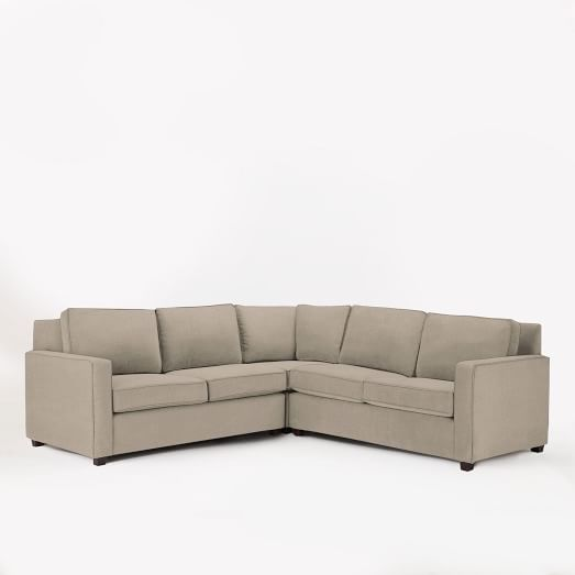 Henry Set 1- (Corner, Right Loveseat, Left Loveseat), Linen Weave, Natural