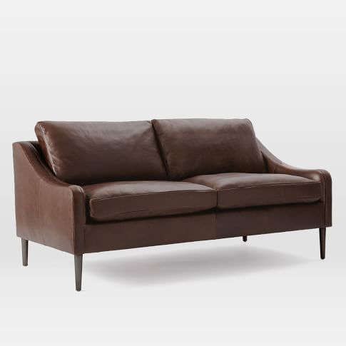 Lindrum Leather Sofa, Clove