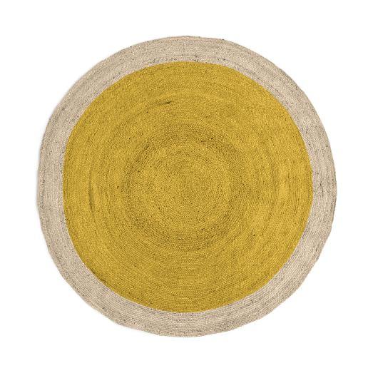 SPO Bordered Round Jute Rug, 6' Round, Horizon