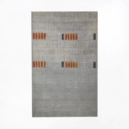 Alyson Fox Rows Rug, 3'X5', Platinum