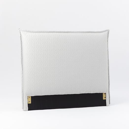 Matelasse Slipcover Headboard, Twin, White