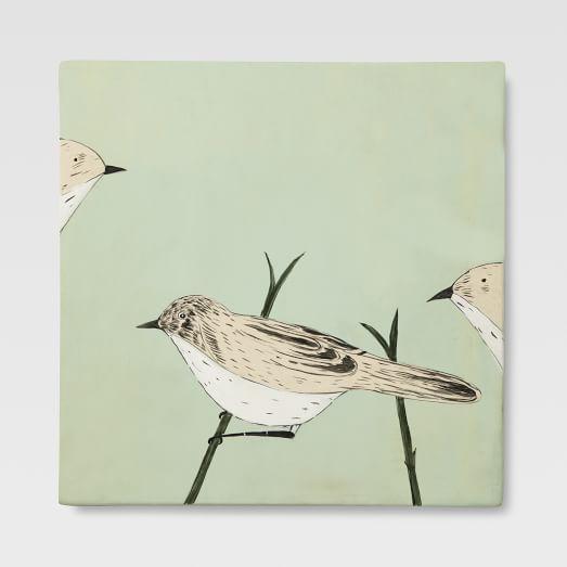 Gemma Orkin Tile, 3 Little Birds, Medium