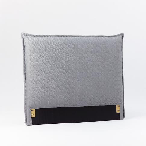 Matelasse Slipcover Headboard - Feather Gray, Twin