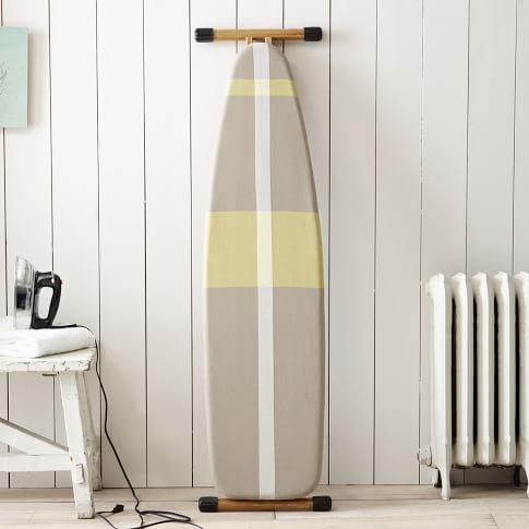 Ironing Board Cover, Surf Stripe, Stone White/Citron