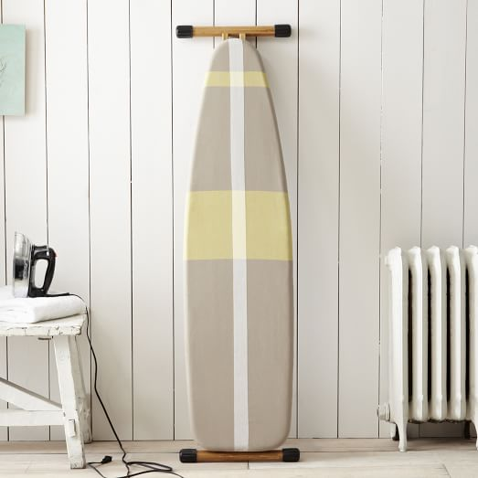 Ironing Board Cover, Surf Stripe, Stone White/Citron
