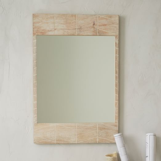 Etched Chevron Wall Mirror