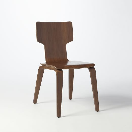 Stackable Dining Chair, Walnut