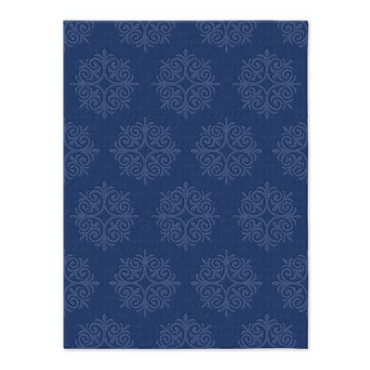 Emblem Wool Rug - True Blue