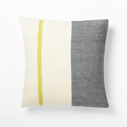 Faribault Wool Pillow Cover, Border Stripe , 20