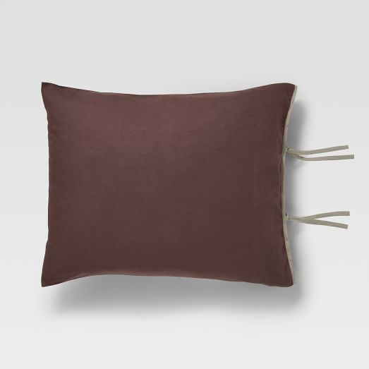 Linen/Cotton Standard Sham, Light Raisin