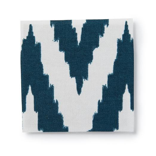 Upholstery Fabric by the Yard, Chevron, Blue Lagoon