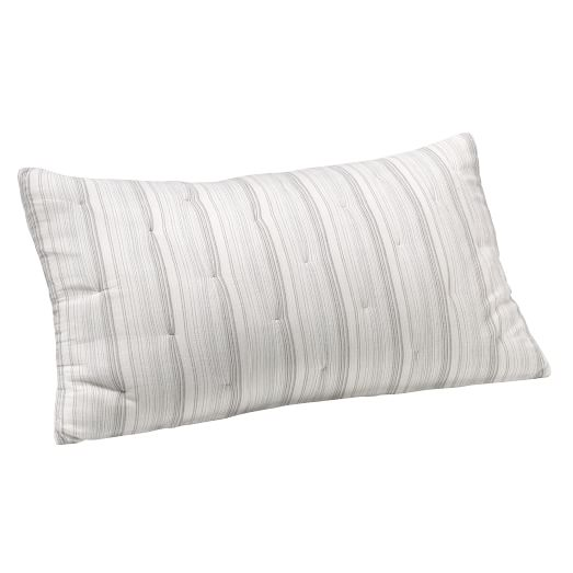 Ripple Stripe King Sham, Onyx